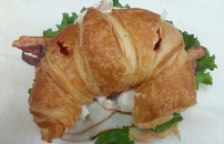 Cold Turkey, Swiss, Bacon Croissant